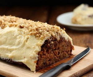 almond, carrot cake, and cake image