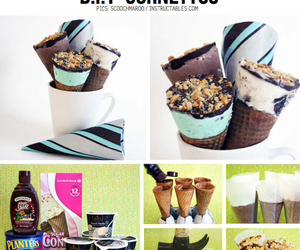 diy, ice cream, and food image