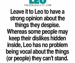 Leo, opinions, and facts image