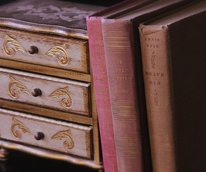 book, shelf, and vintage image