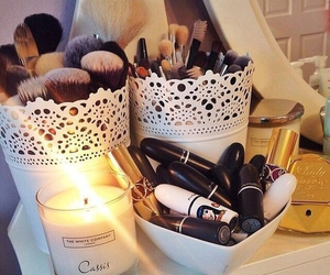 beauty, candle, and Lipsticks image