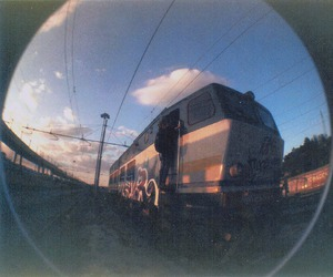 bombing, fisheye, and underground image