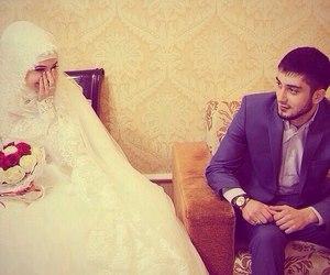 wedding, hijab, and islam image