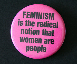 bangs, button, and feminism image