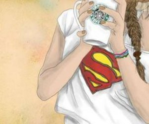 superman, starbucks, and art image