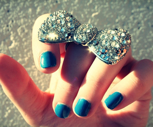 ring, nails, and blue image