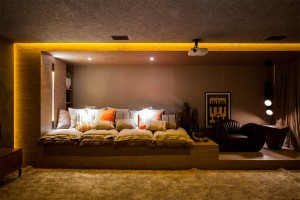 Captivating Home Theater Interior Decorations For Theatre Decorations Theater Room Accessories Movie Theme Decorations Theater Room Wall Decorations Elegant Home Theater Design Ideas With Brown Wall Paint And Wooden Cabinets Featuring Lather