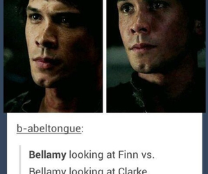 bellamy, clarke griffin, and book image