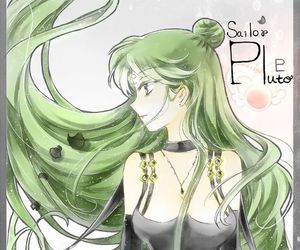 sailor pluto and sailor moon image