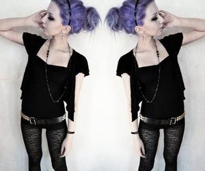 purple hair, pastel goth, and pastel image