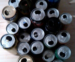 7up, beer, and cans image