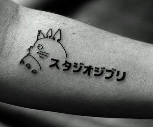 tattoo, totoro, and anime image