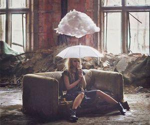 girl, photography, and rain image