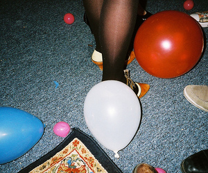indie, balloons, and grunge image