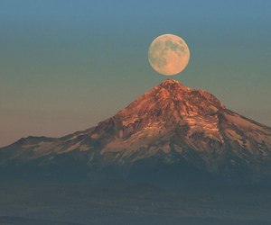 beautiful, moon, and landscape image