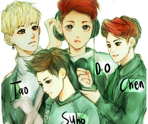Chen, exo, and d.o. image