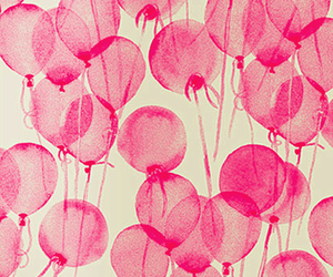 balloons, pink, and wallpaper image