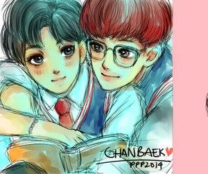 exo, exo-k, and chanyeol image