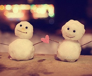 snowman, winter, and cute image