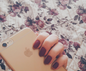 autumn, gold, and nails image