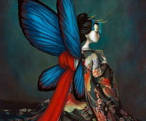 art, butterfly, and Benjamin Lacombe image