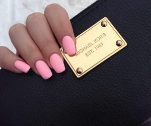 nails, pink, and Michael Kors image