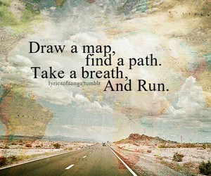 map, run, and quote image