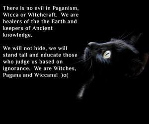 black cat, magick, and pagan image