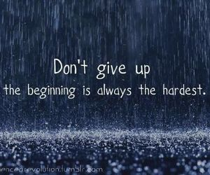 quote, rain, and hard image