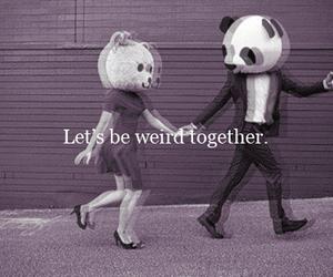 love, panda, and weird image