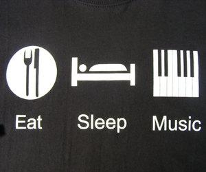 music, eat, and sleep image