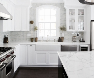 kitchen, white, and decor image