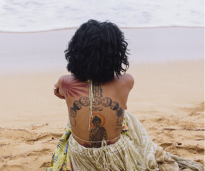 tattoo, beach, and jhene aiko image