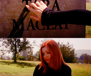 alyson hannigan, buffy, and grave image