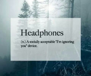 headphones, music, and quotes image