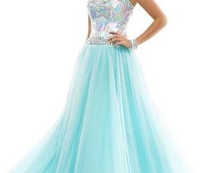 turquoise prom dress image