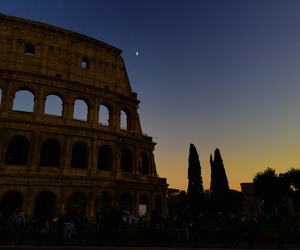 beautiful, colosseo, and moon image