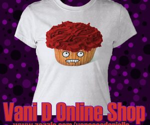 blood, cupcake, and fashion image