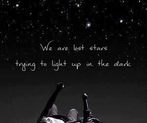 lost star, lyric, and maroon 5 image
