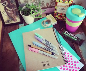 school, notebook, and motivation image