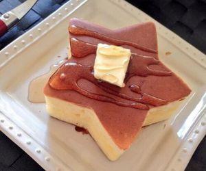 food, stars, and pancakes image
