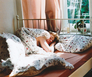 boy, bed, and vintage image