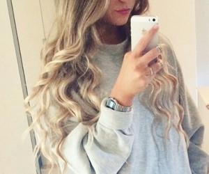 hair, blonde, and grey image