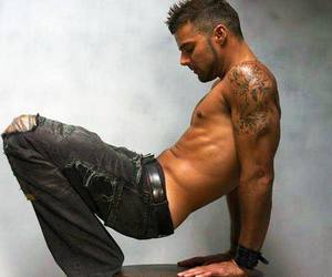 Tattoos, shirtless, and ricky martin image