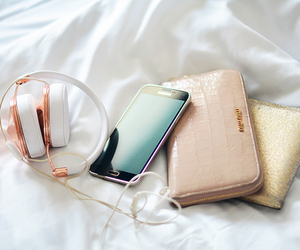 phone, headphones, and samsung image