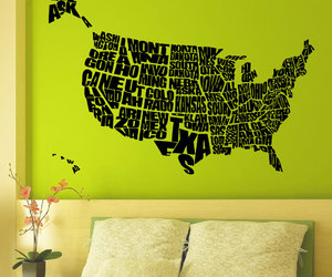 country, wall decal, and world image