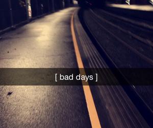 snapchat, dark, and bad days image