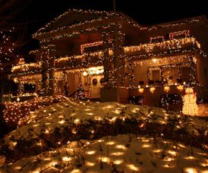 christmas, winter, and house image