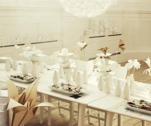 bride, Tables, and wedding image