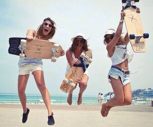 beach, skating, and beachlife image